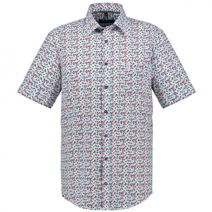 Modernes Freizeithemd, kurzarm türkis_350 | 3XL
