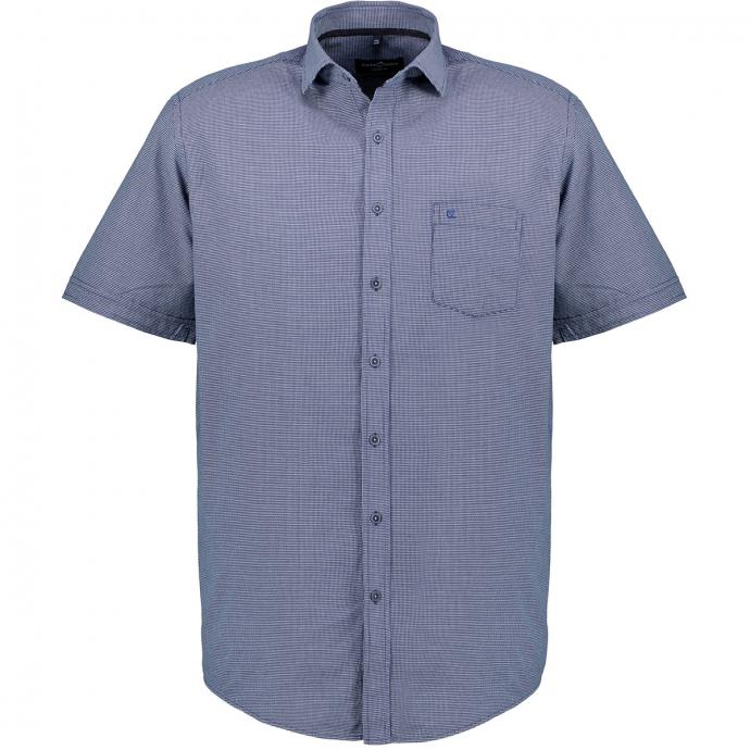 Freizeithemd fein strukturiert, kurzarm blau_100   XXL