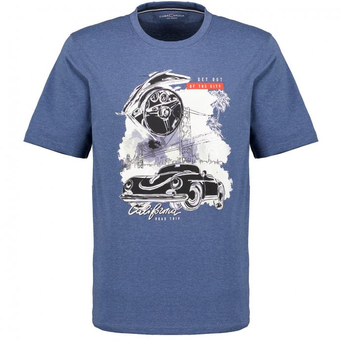 "T-Shirt mit ""California""-Print blau_126 | 3XL"