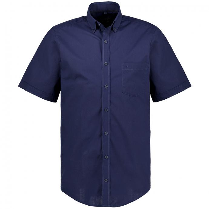 Freizeithemd aus Biobaumwolle, kurzarm dunkelblau_100/400 | XXL