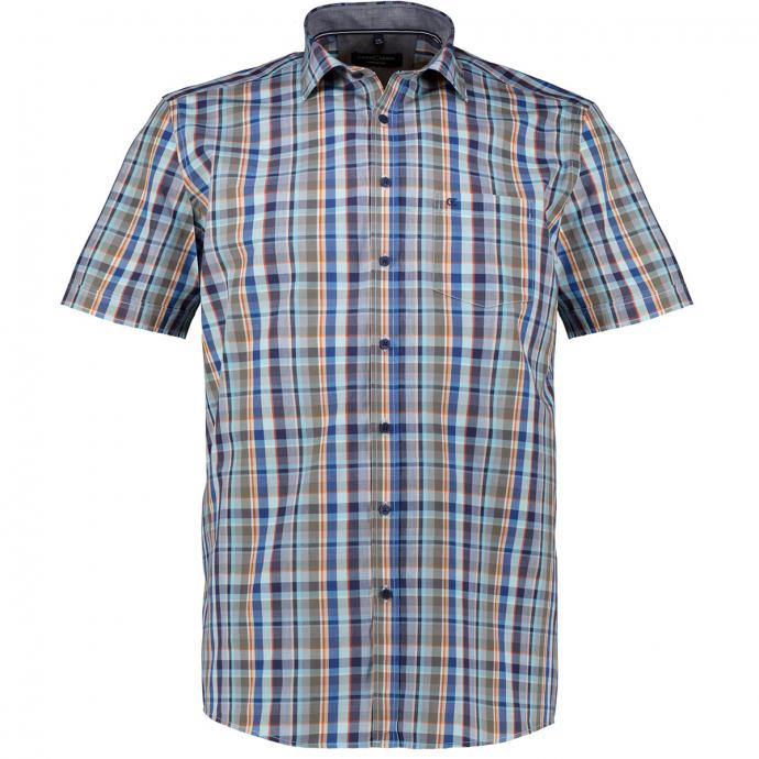 Leichte Freizeithemd aus Baumwolle im Karomuster, kurzarm blau_100 | XXL