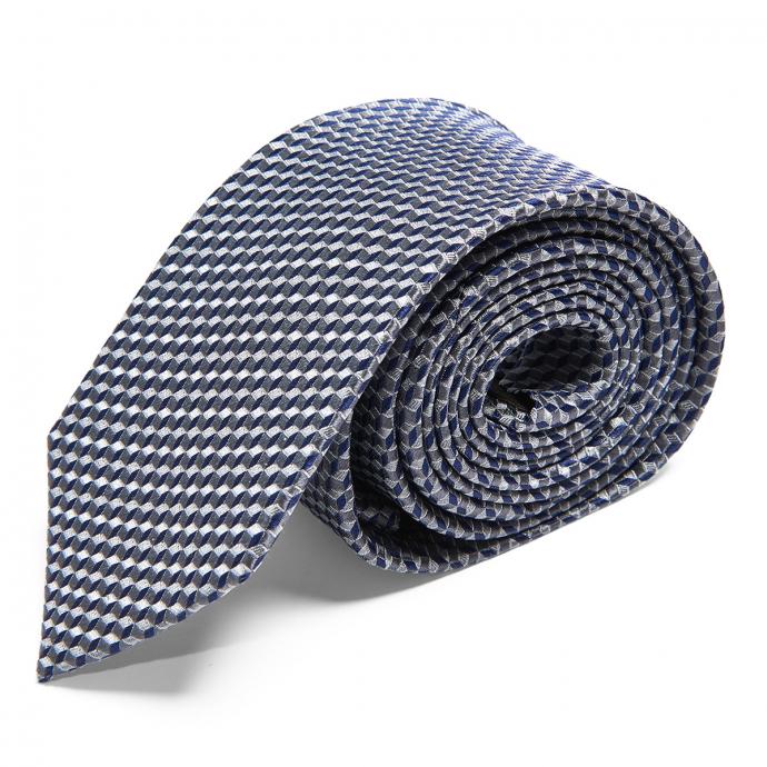 Strukturierte Krawatte aus Seide graublau_16/39 | One Size