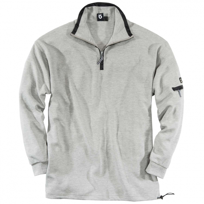 Sweatshirt Troyer Kragen grau_40 | 3XL