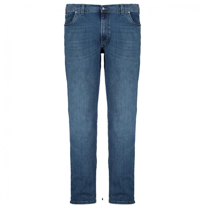 Stretchjeans mit leichter Waschung jeansblau_354 | 62