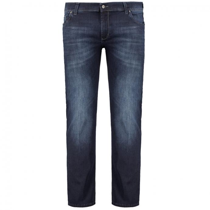 Jeans in Megaflex-Qualität und mit Waschung dunkelblau_469   31