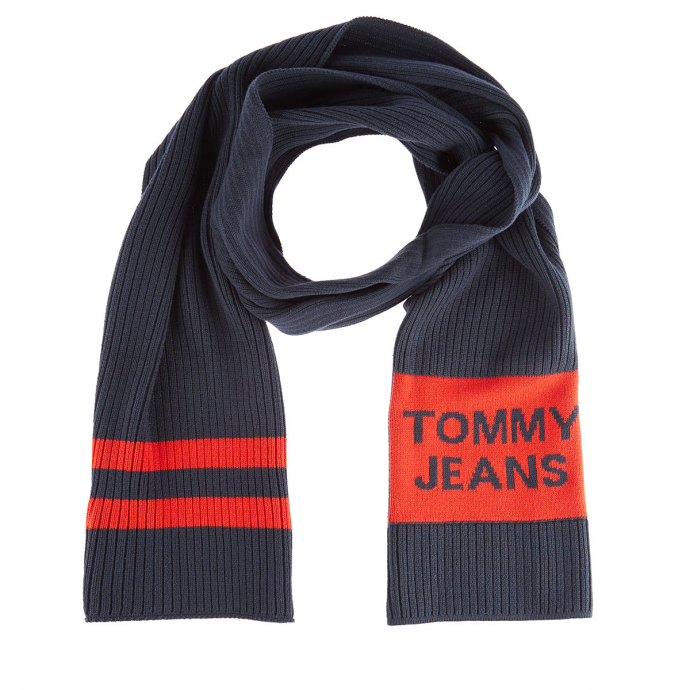 Modischer Strick-Schal mit Streifen dunkelblau_0IA | One Size