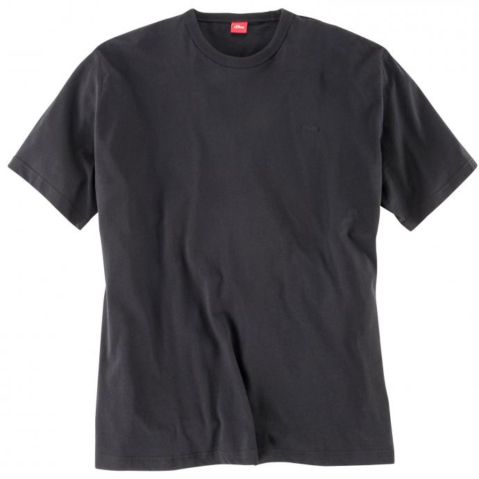 Basic T-Shirt aus Baumwolle schwarz_9999 | 3XL