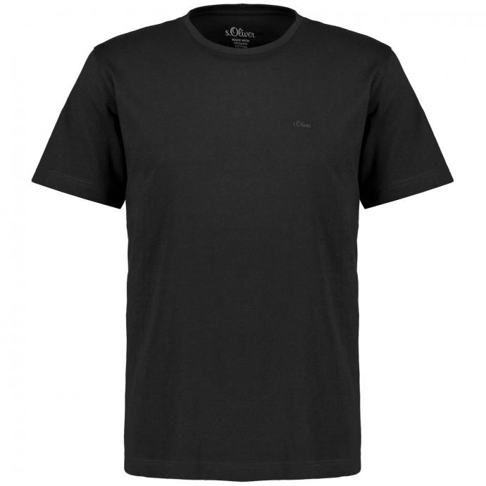 T-Shirt aus Bio-Baumwolle schwarz_9999 | 3XL