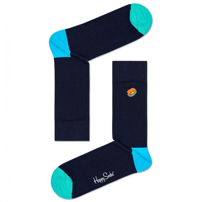 "Hochwertige Socke mit dem Kultfaktor, ""Emboidery Hamburger"" dunkelblau_6500 | 41-46"
