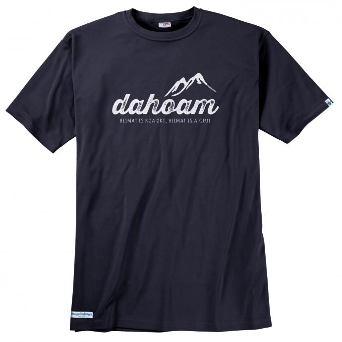 "T-Shirt ""Dahoam"" blau_40 | 5XL"