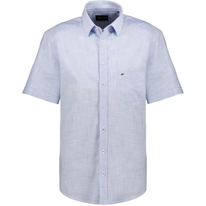 Strapazierfähiges Freizeithemd aus Baumwoll-Popeline, kurzarm, Regular Fit hellblau_109 | XXL
