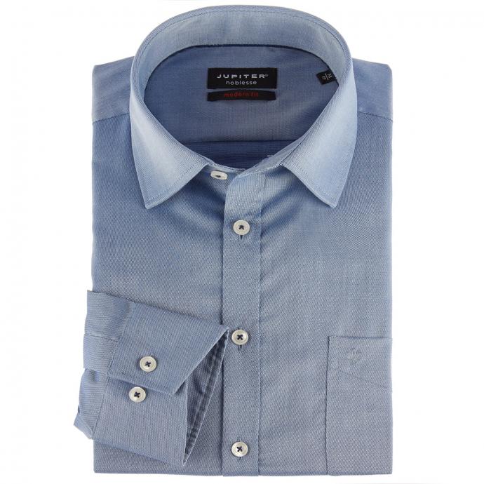 "Hochwertiges Business-Hemd ""Noblesse"", Regular Fit blau_119 | 46"