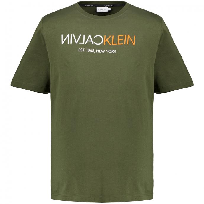 LogoShirt mit Frontprint dunkelgrün_MRZ | 3XL