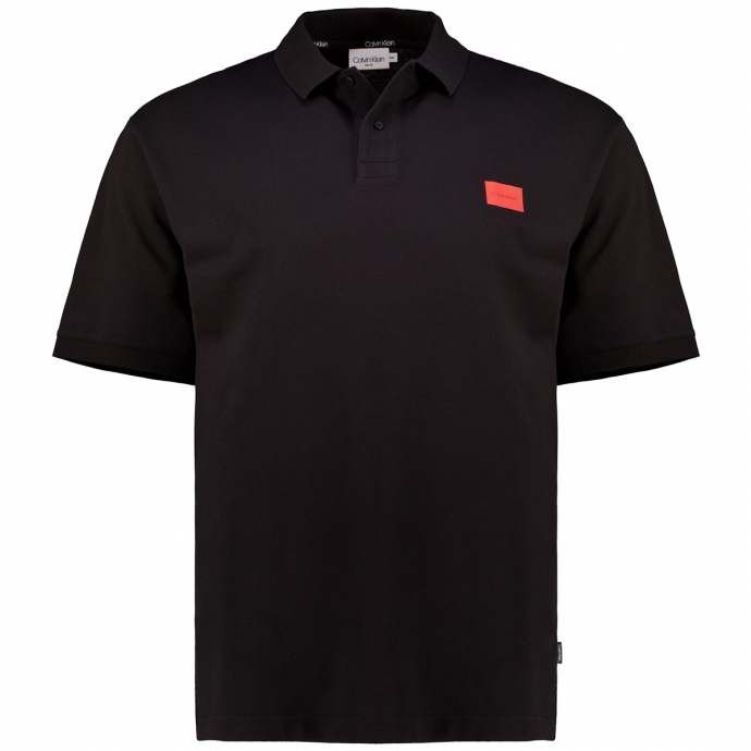 Leichtes Poloshirt aus Stretch-Piqué, kurzarm schwarz_BDS   3XL