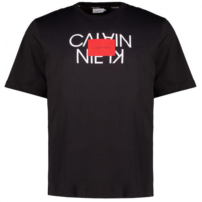 T-Shirt aus Biobaumwolle mit Print schwarz_BEH | 3XL
