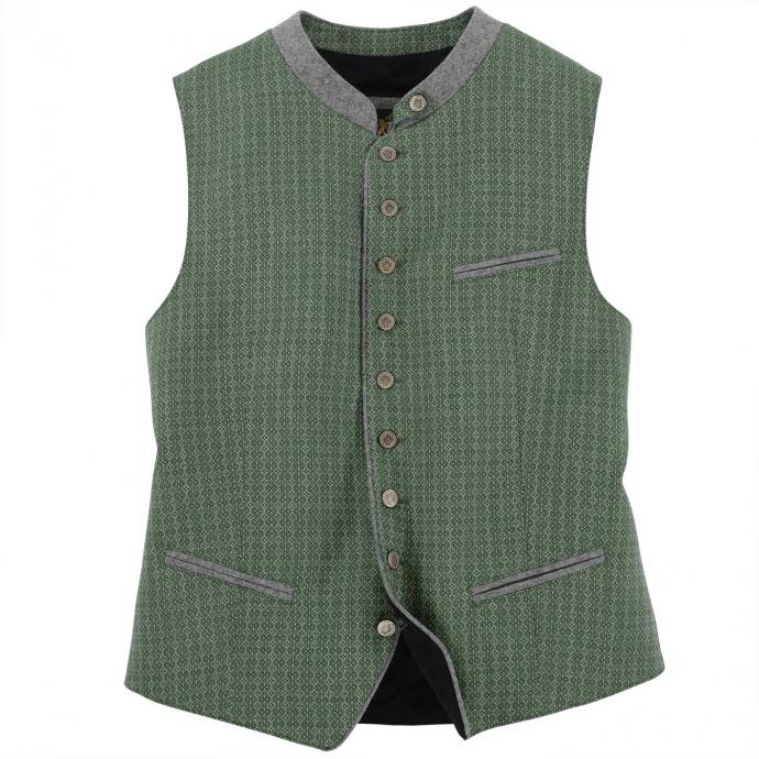 Festliche Trachten-Weste mit modernem Muster grün_GRÜN | 72