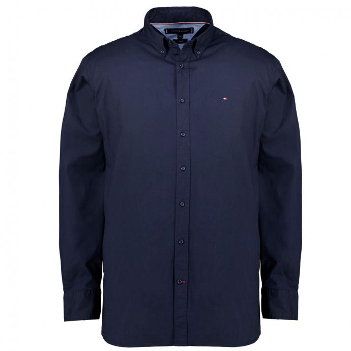Freizeithemd aus Baumwoll-Stretch dunkelblau_CJM | 3XL