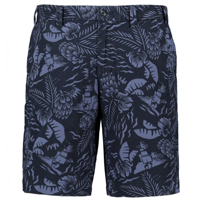 Chino-Shorts mit floralem Print marine_DW5 | W48