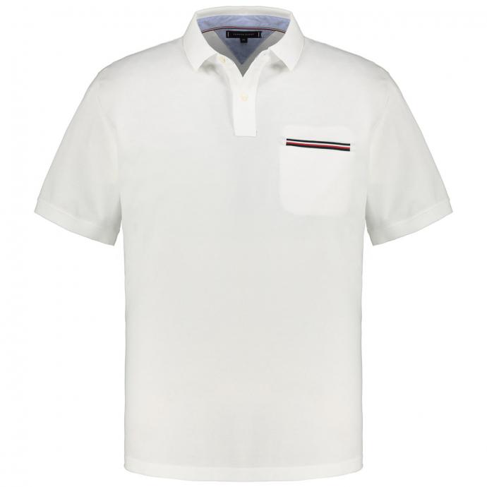 Poloshirt mit Brusttasche, kurzarm weiß_YBR | 3XL