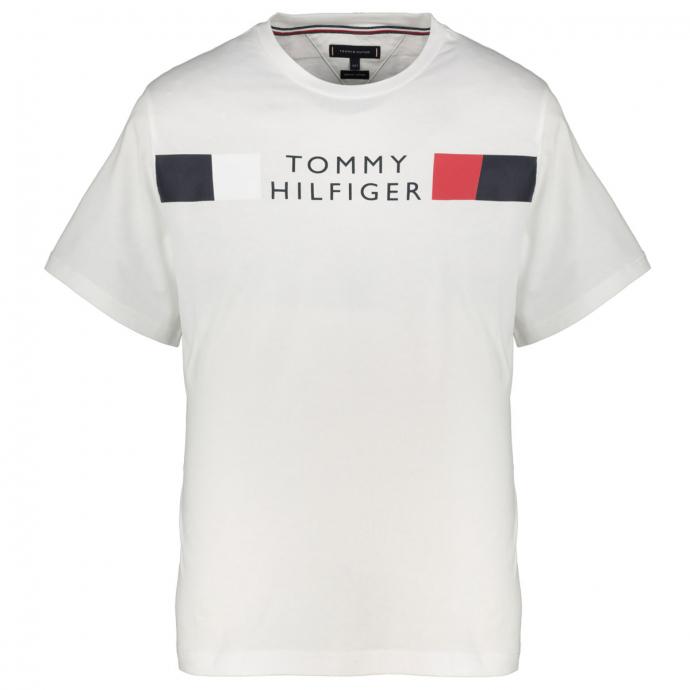 Baumwoll-T-Shirt mit Tommy Hilfiger Schriftzug weiß_YBR | 3XL