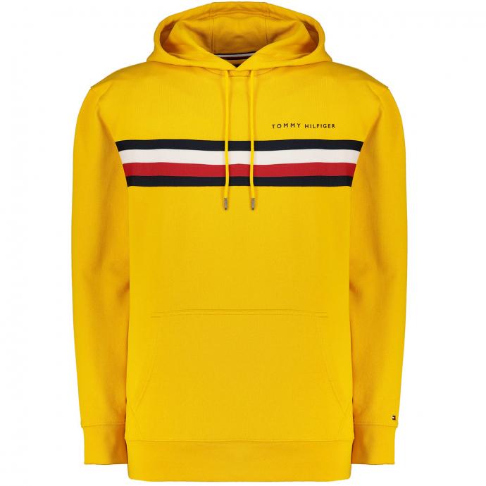 Hoodie mit Logo-Aufsatz gelb_ZFX   3XL