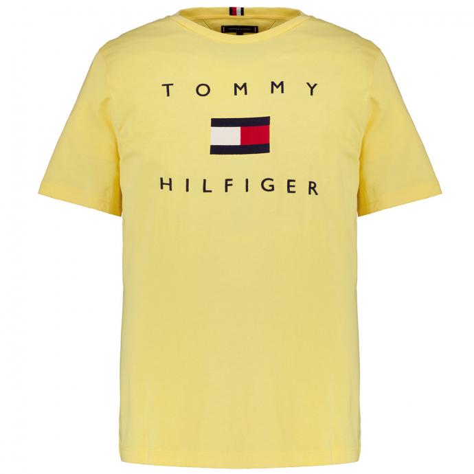 T-Shirt mit Tommy Hilfiger Schriftzug & Flag gelb_ZFB | 3XL