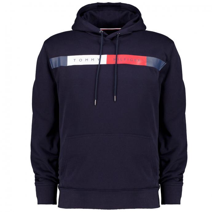 Kapuzensweatshirt mit Hilfiger-Print marine_DW5 | 3XL