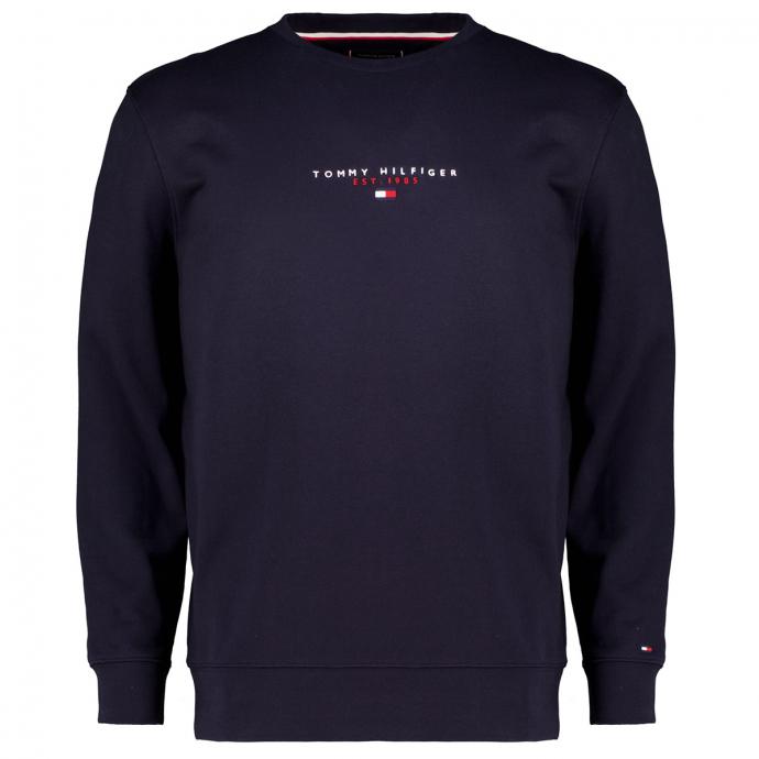 Sweatshirt aus Biobaumwolle mit Logo-Stickelementen marine_DW5   3XL