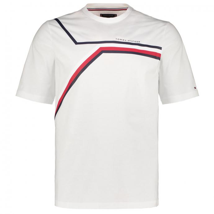 T-Shirt aus Biobaumwolle mit graphischem Print weiß_YBR   3XL