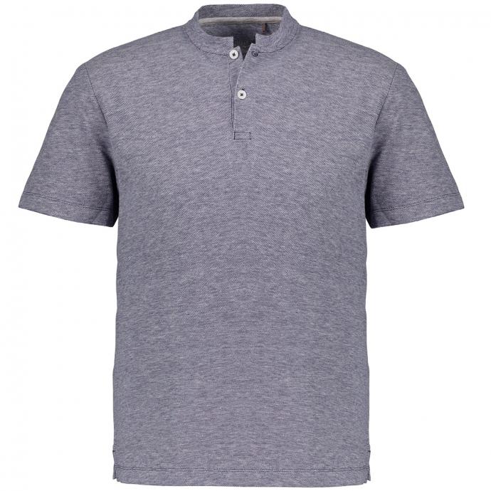 Henleyshirt aus Baumwoll-Leinenmix blau_56W0/40 | 3XL