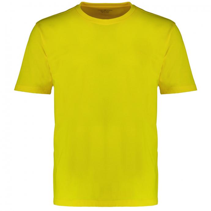T-Shirt mit Rundhalsausschnitt gelb_537 | 3XL