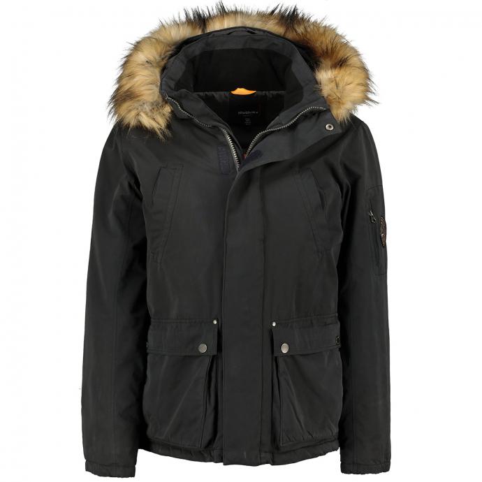 Funktionelle Jacke mit praktischen Taschen schwarz_0099 | 3XL