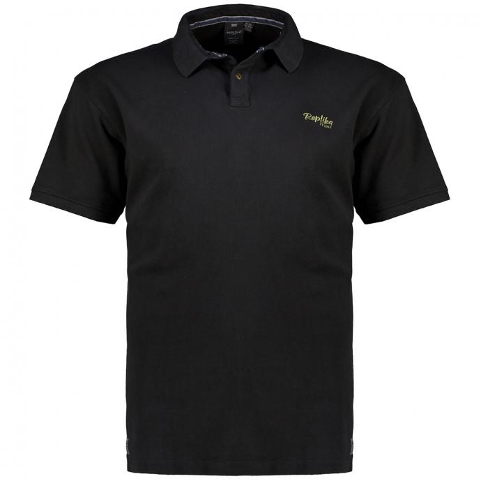 Klassisches Poloshirt mit Logostickerei, kurzarm schwarz_0099 | 3XL