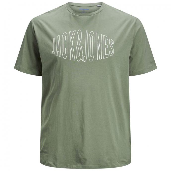 T-Shirt aus Baumwoll-Stretch mit Rundhalsausschnit oliv_SEASPRAY | 3XL
