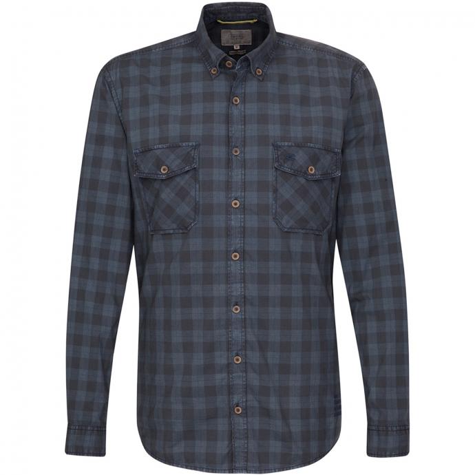 Karriertes Freizeit Hemd langarm blau_16 | 6XL