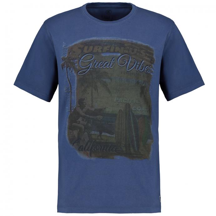Sommerliches T-Shirt mit Vintage Print graublau_213 | 3XL