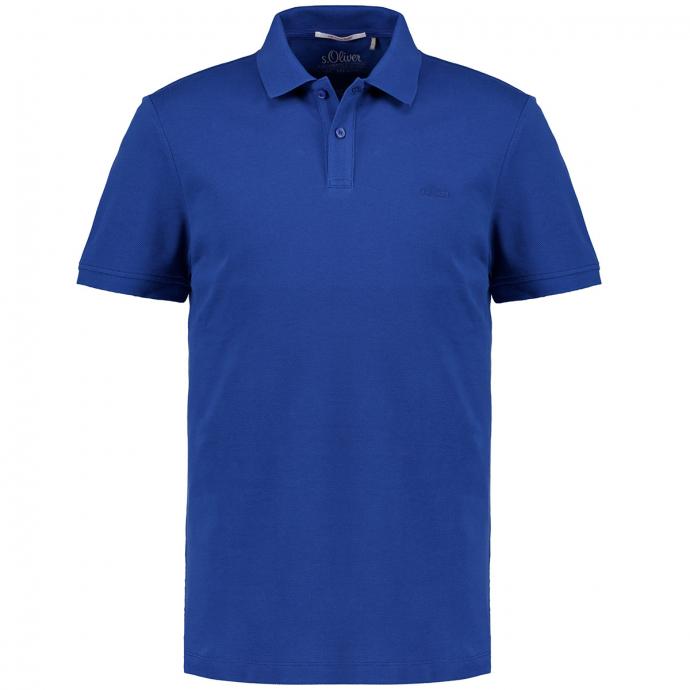 Legeres Poloshirt, kurzarm blau_5538 | 3XL