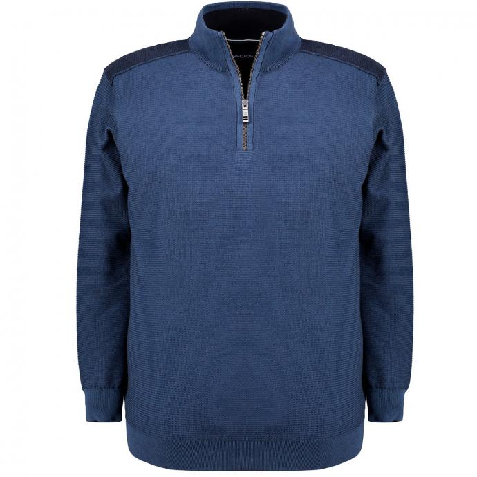 Pullover mit Troyerkragen marine_105 | 3XL