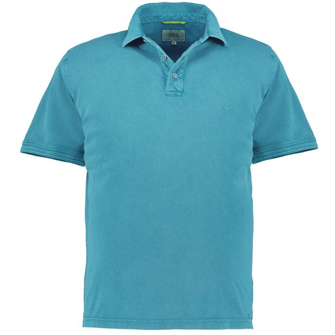 Sportliches Poloshirt, kurzarm karibikblau_56/40   3XL