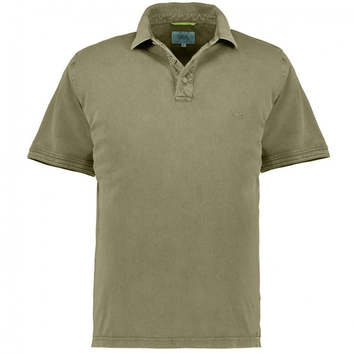 Sportliches Poloshirt, kurzarm oliv_75 | 3XL