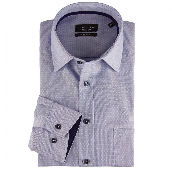 "Businesshemd ""Noblesse"", dezent gemustert, Regular Fit hellblau_105 | 46"