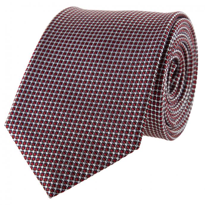 Krawatte mit kleinen Karos rot_4/50 | One Size