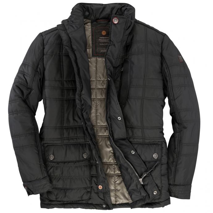 Gesteppte Long-Outdoor-Jacke schwarz_1200   60