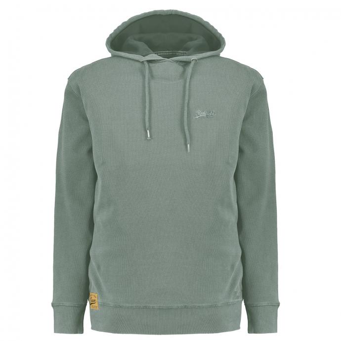Kapuzen-Sweatshirt mit Logostickerei grau_708 | 3XL