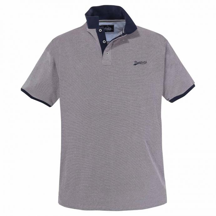 Sportives Poloshirt farbigem Struktumuster, kurzarm rot_403   6XL