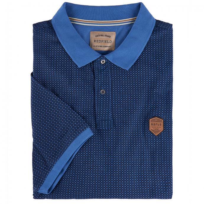 Poloshirt mit Musterprint, kurzarm royalblau_286 | 6XL