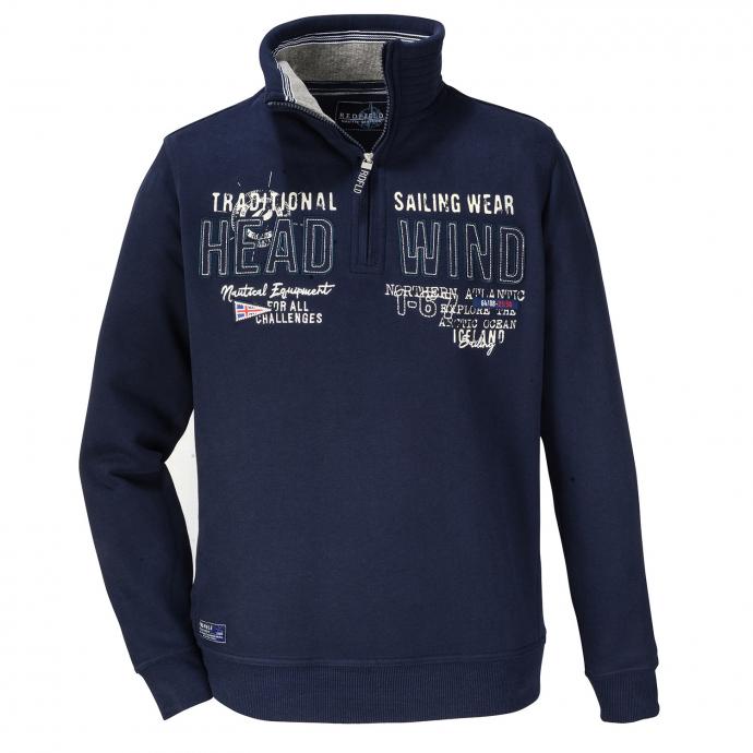 """Sweatshirt """"Head Wind"""" mit Troyerkragen dunkelblau_547/400   3XL"""
