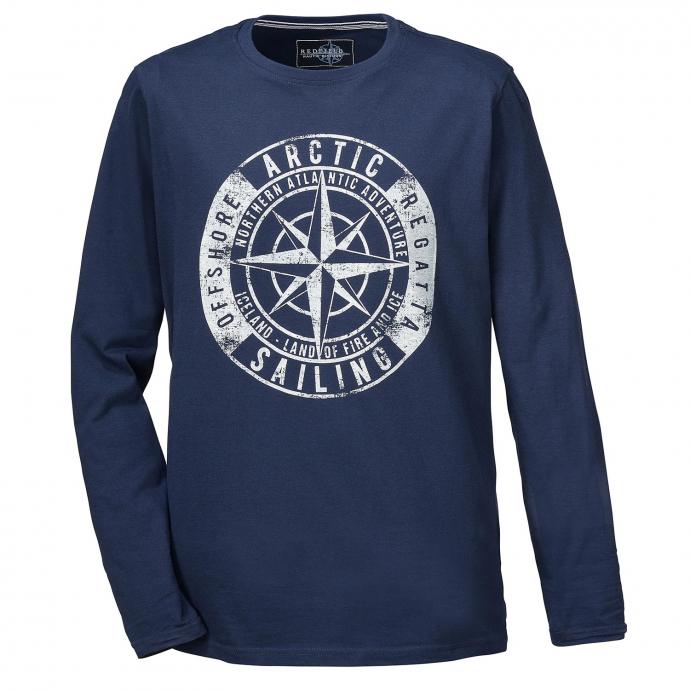 "Longsleeve mit ""Arctic"" Print auf der Brust dunkelblau_547/400   3XL"