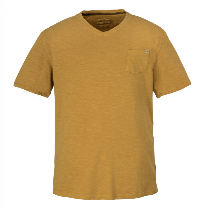 Vintage T-Shirt mit V-Ausschnitt curry_874 | 3XL