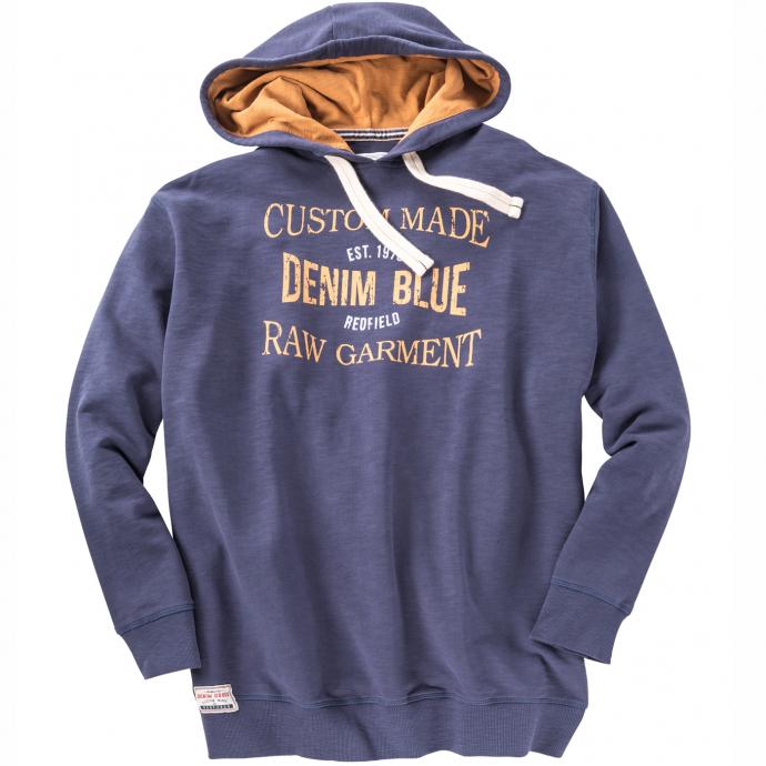 Sweatshirt mit Druck und Kapuze jeansblau_189 | 6XL